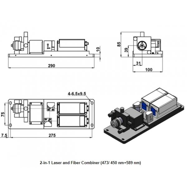 laser combiner - optogenetics / neuroscience