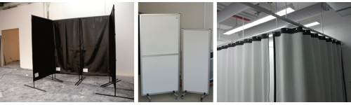 Laser safety curtains & screens